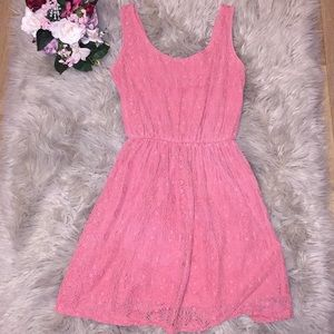 Lace two layer tank dress